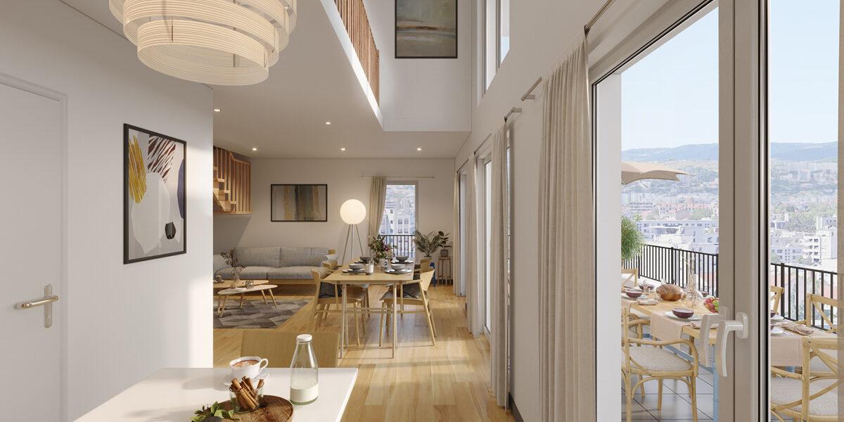 Appartement à vendre : Lyon-8 . 78.47 m² . 4 pièces