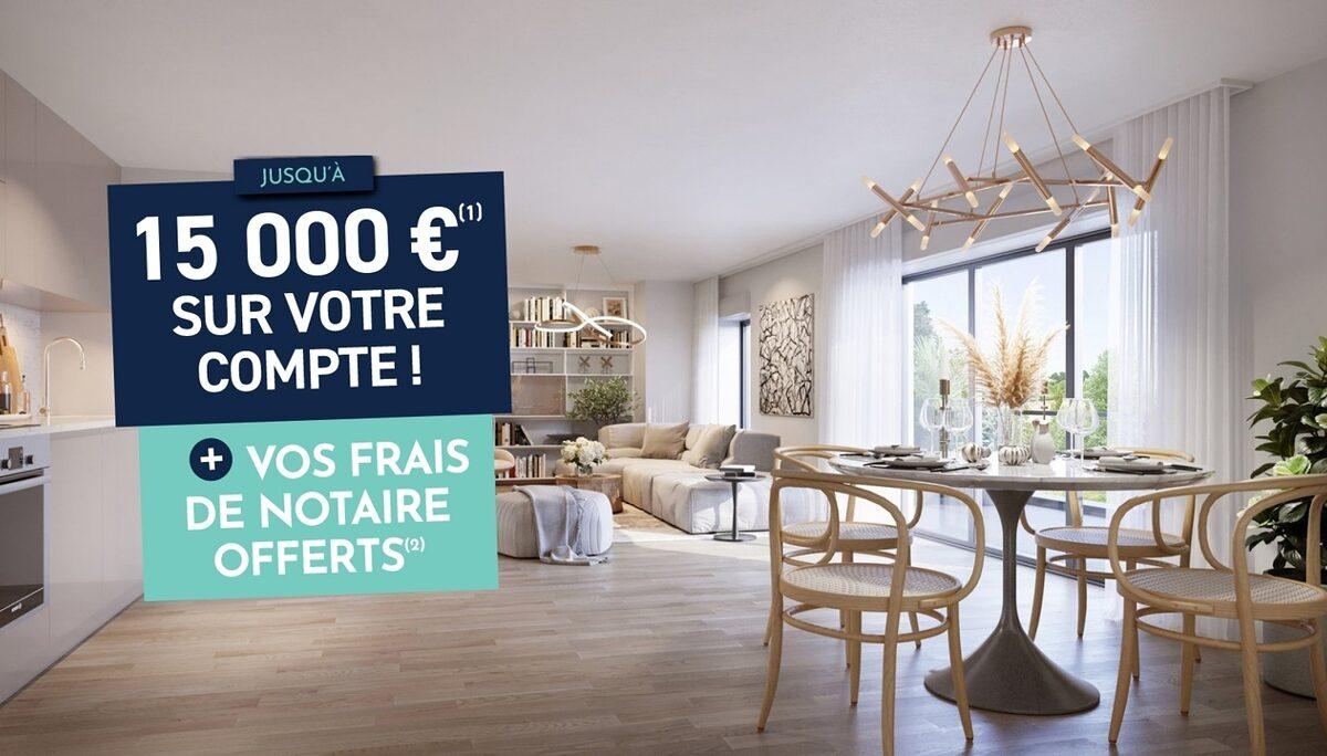 Appartement à vendre à Montevrain . 43.16 m² . 2 pièces