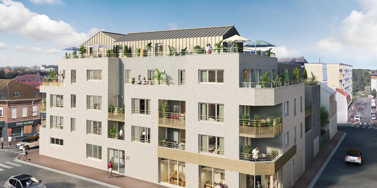 Appartement à vendre : Marcq-en-Baroeul . 50.6 m² . 2 pièces