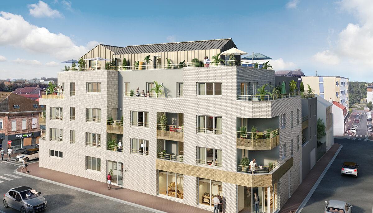Appartement à vendre à Marcq En Baroeul . 50.5 m² . 2 pièces