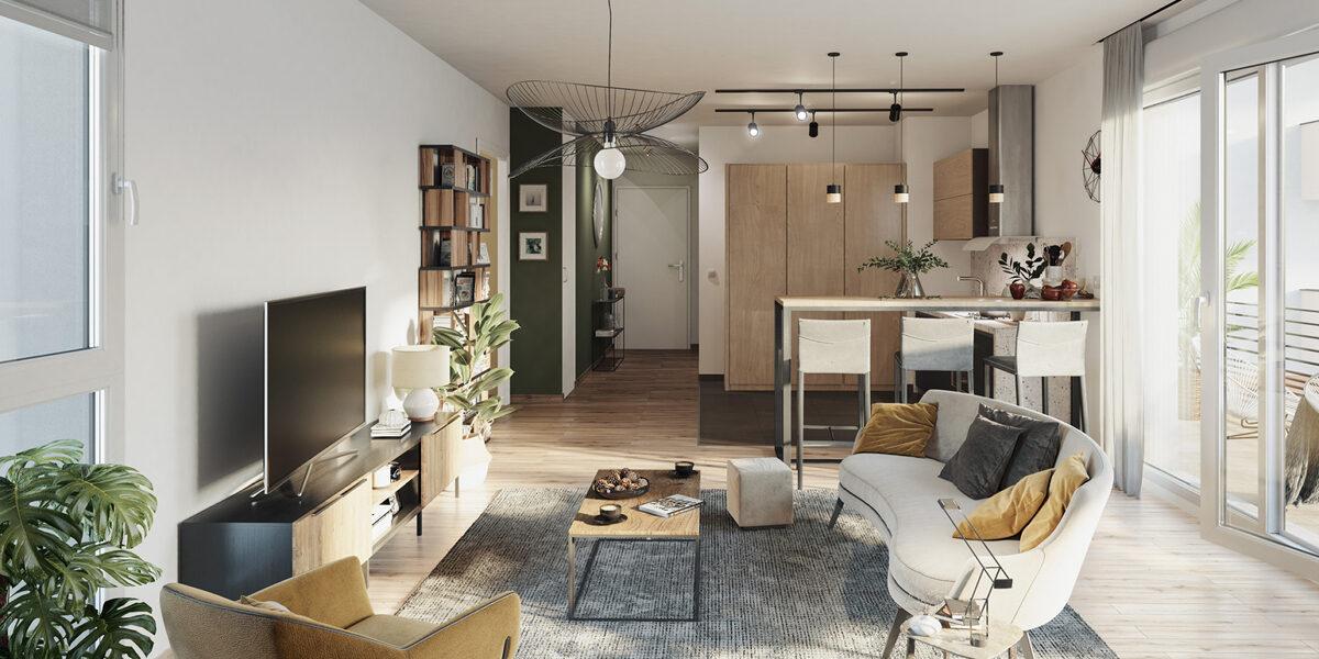 Appartement à vendre : Metz . 41.95 m² . 2 pièces