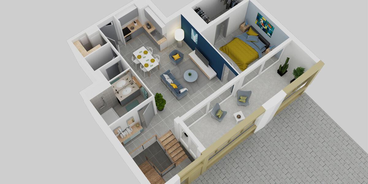 Appartement à vendre : Montpellier . 69 m² . 3 pièces