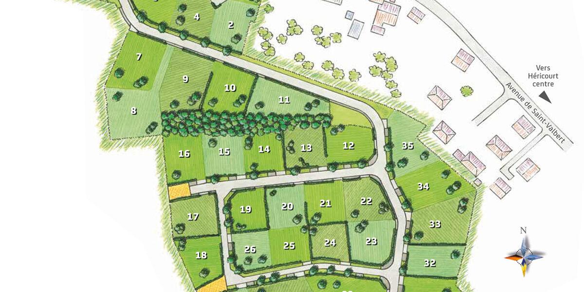 Terrain Constructible à vendre : Hericourt . 535 m²