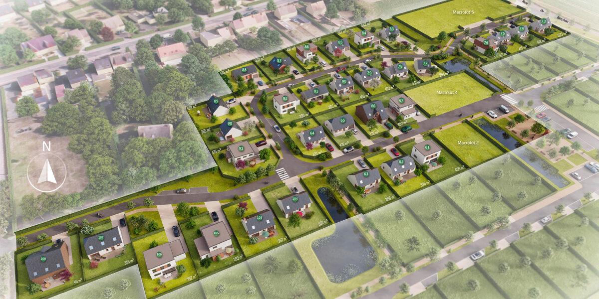 Terrain Constructible à vendre : Merville . 361 m²