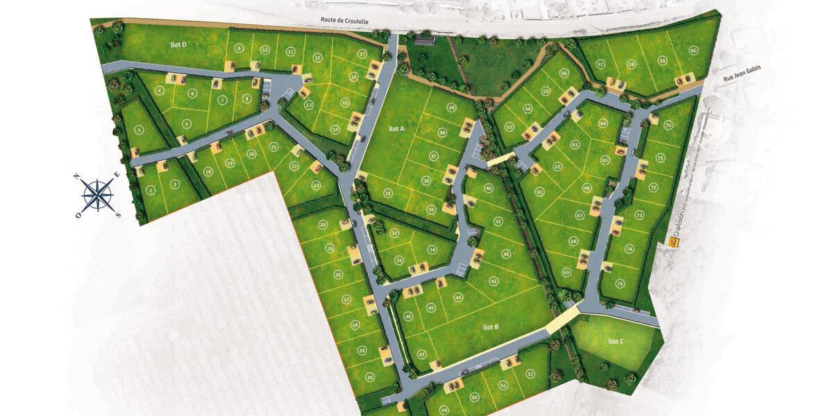 Terrain Constructible à vendre : Liguge . 339 m²