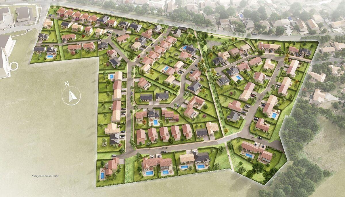 Terrain Constructible à vendre : Liguge . 390 m²