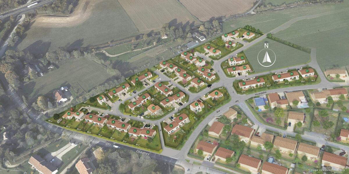 Terrain Constructible à vendre : Fontaine-le-comte . 337 m²