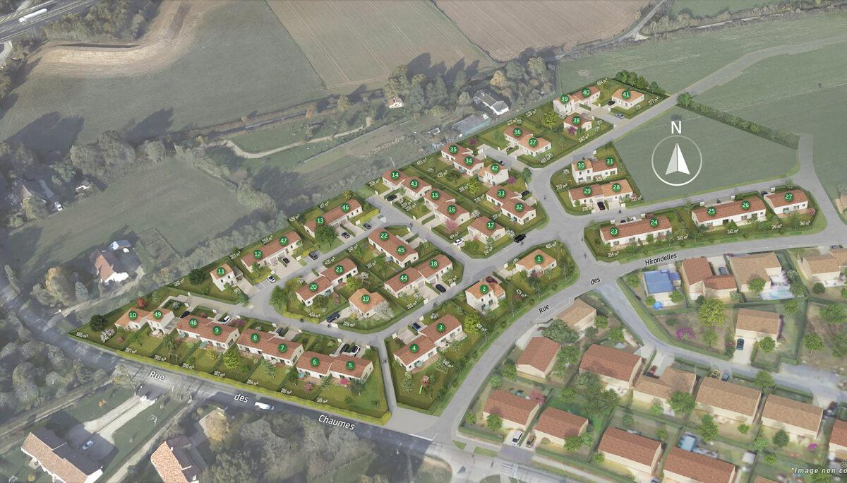 Terrain Constructible à vendre : Fontaine Le Comte . 277 m²