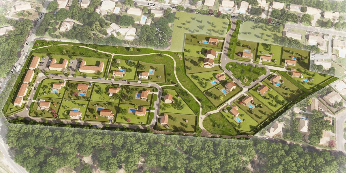 Terrain Constructible à vendre : Saint-aubin-de-medoc