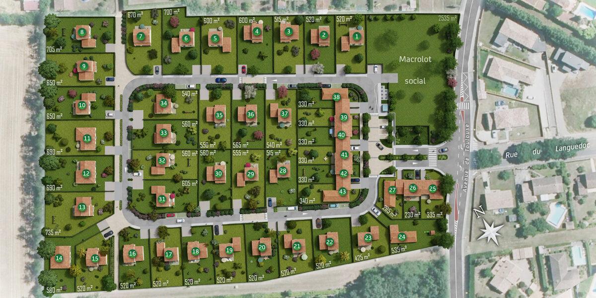 Terrain Constructible à vendre : Pins-justaret . 330 m²