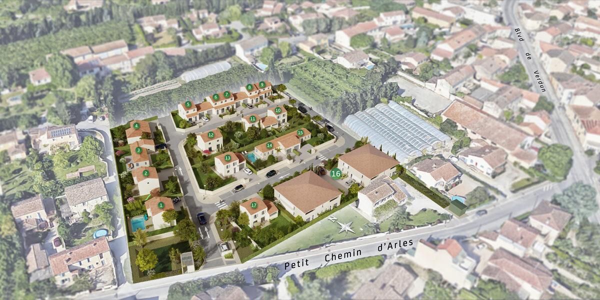 Terrain Constructible à vendre : Rognonas . 359 m²