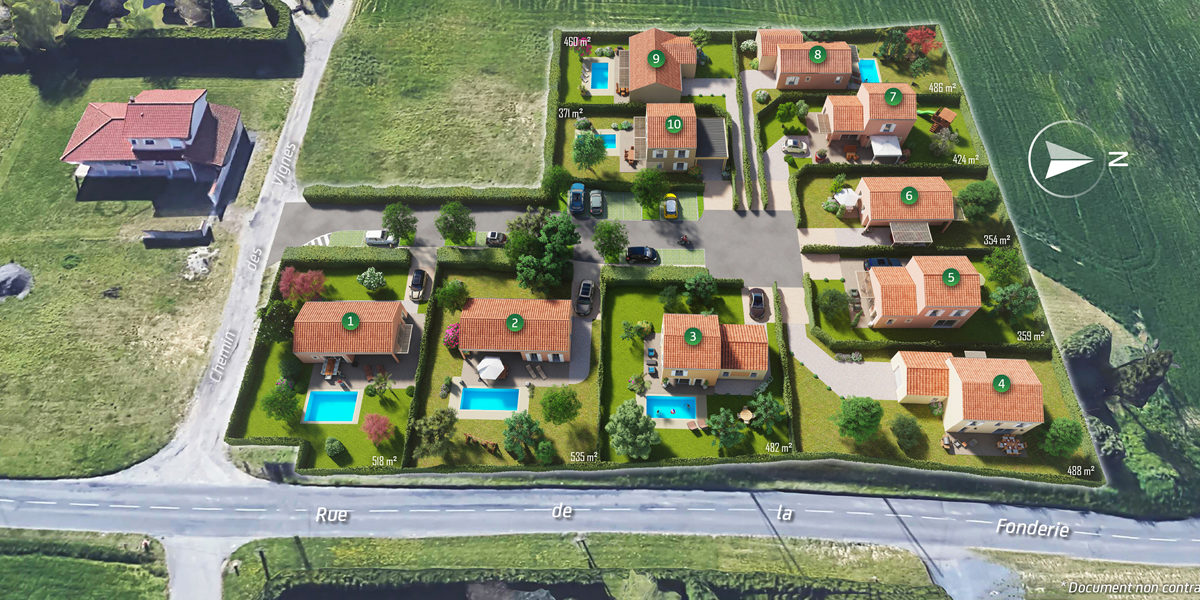 Terrain Constructible à vendre : Simandres