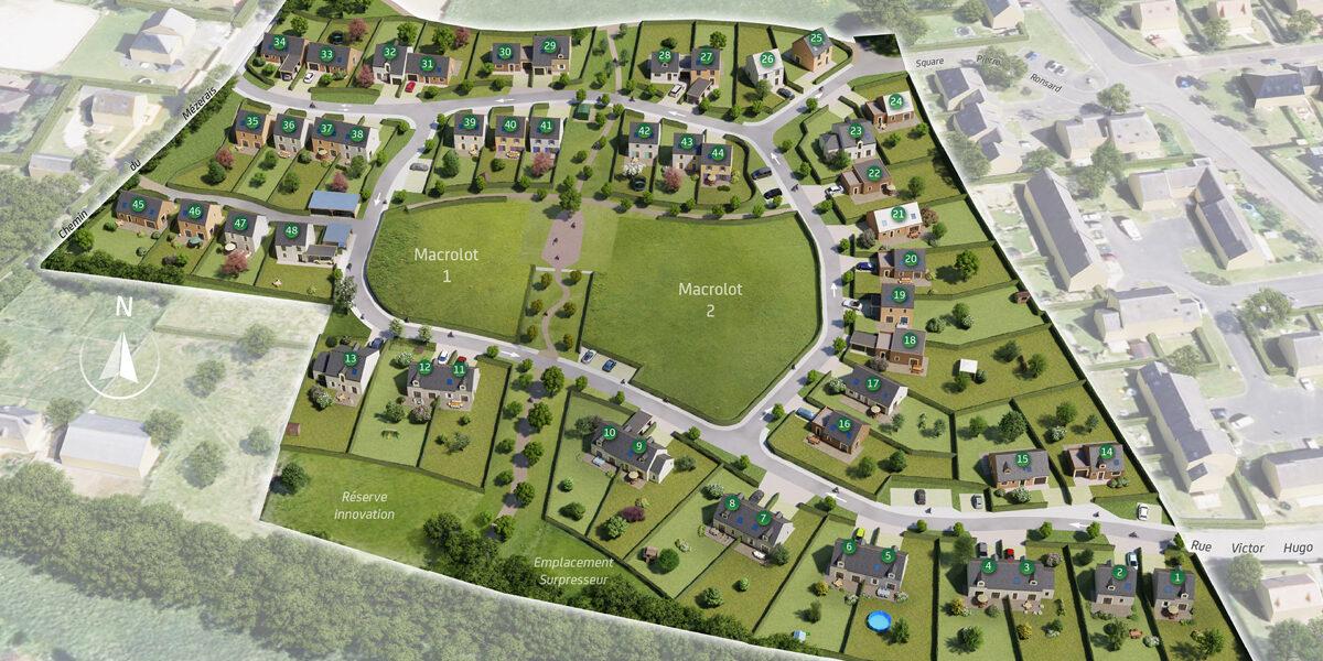 Terrain Constructible à vendre : Villers-bocage
