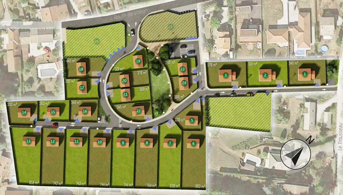 Terrain Constructible à vendre à Charnecles . 743 m²