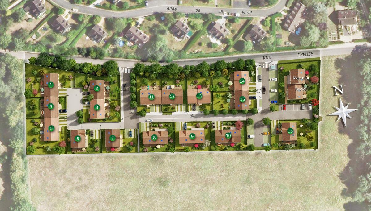 Terrain Constructible à vendre : Auffargis . 459 m²