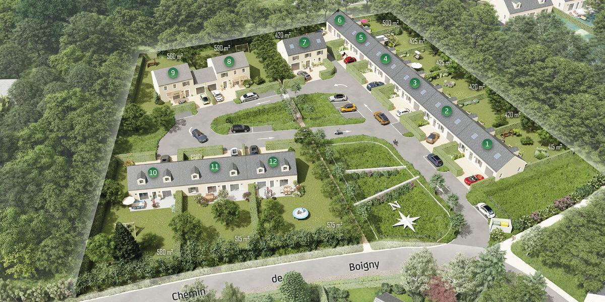 Terrain Constructible à vendre : Cely . 420 m²
