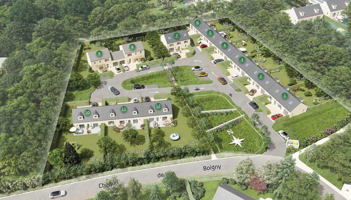 Programme immobilier neuf LES JARDINS DE BOIGNY - CELY EN BIERE