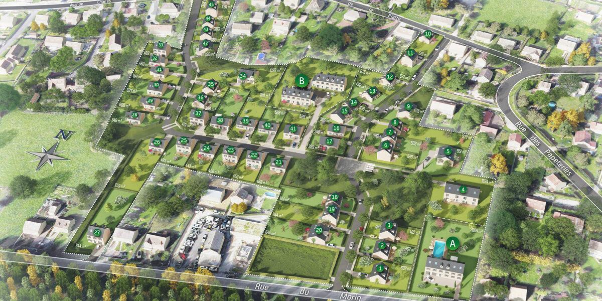 Terrain Constructible à vendre : Boissy-le-chatel . 406 m²
