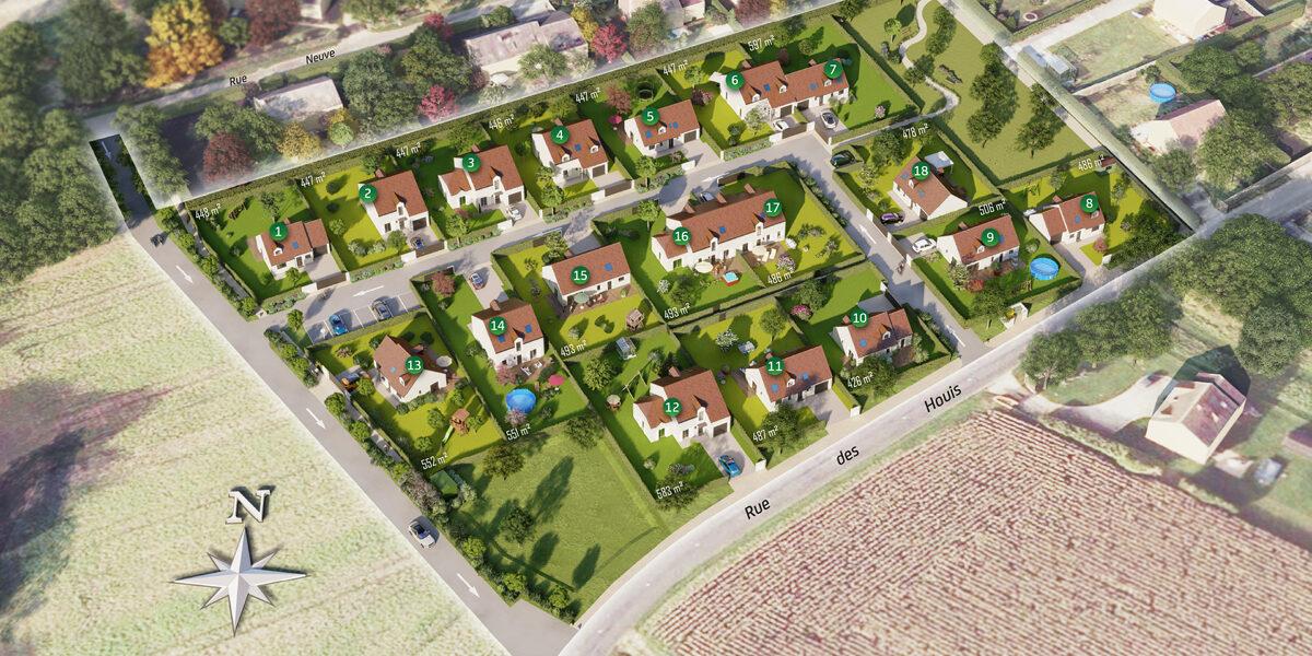 Terrain Constructible à vendre : Pierre-levee . 426 m²