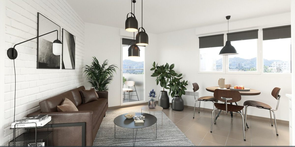 Appartement à vendre : Marseille-10 . 58.84 m² . 3 pièces